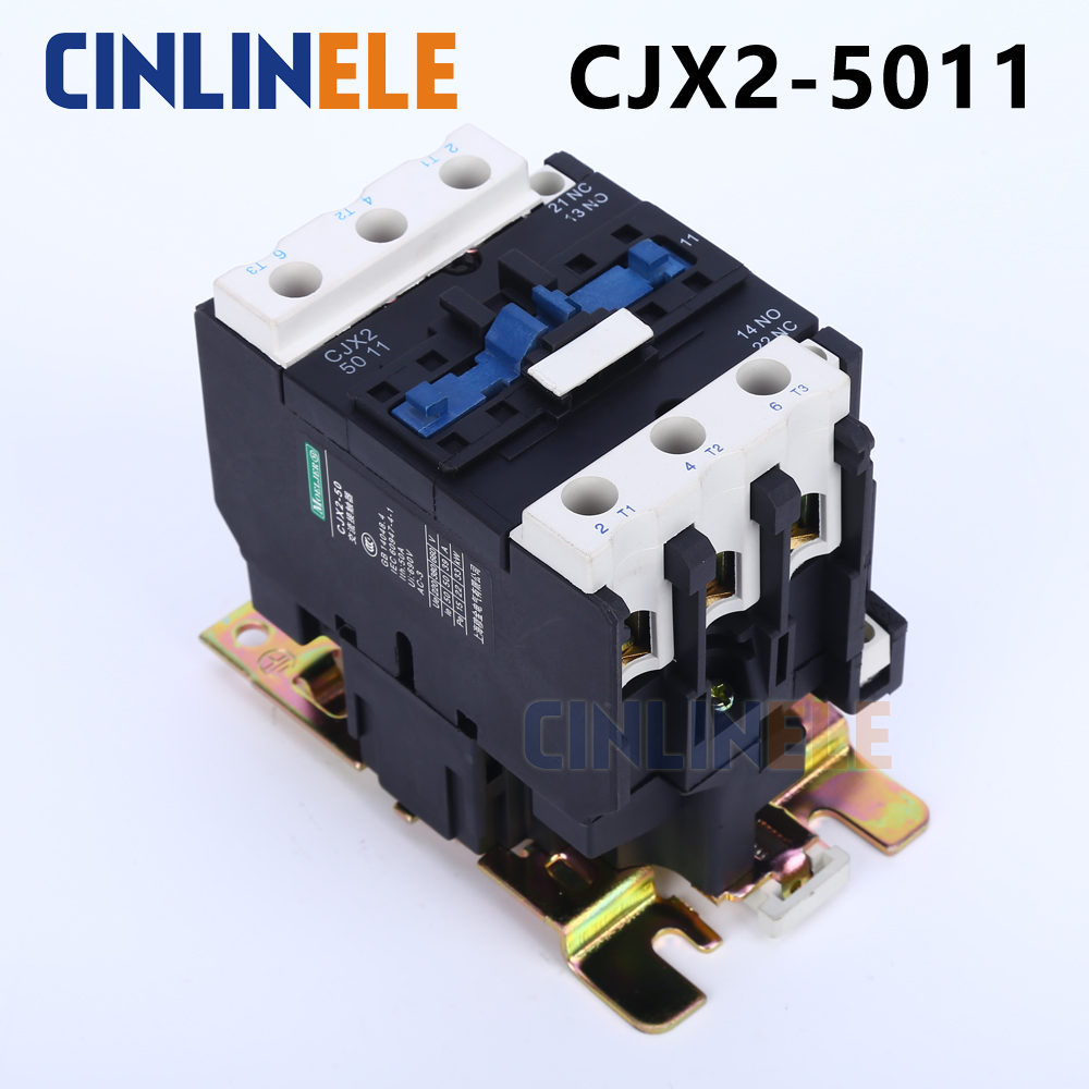 Contactor CJX2-5011 50A switches LC1 AC contactor voltage 380V 220V 110V Use with float switch